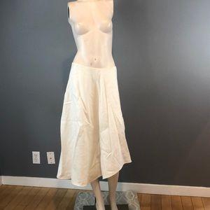 NWOT Vince White Linen Asymmetric Skirt Sz 8